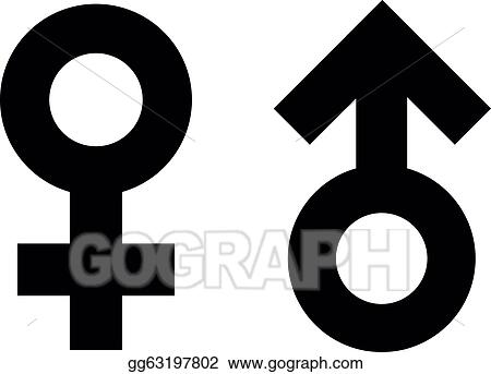 Eps Vector Male And Female Symbols Stock Clipart Illustration