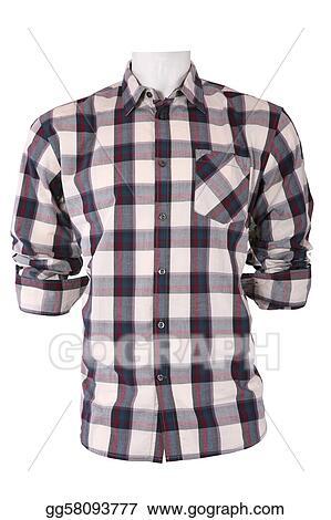 b0b5094e8ec Clipart - Male checkered shirt on a mannequin. Stock Illustration ...