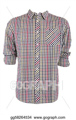 ec5ee5c3378 Clip Art - Male checkered shirt. Stock Illustration gg58264534 - GoGraph
