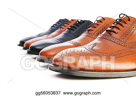 Stock Images Male Shoes Isolated On The White Background