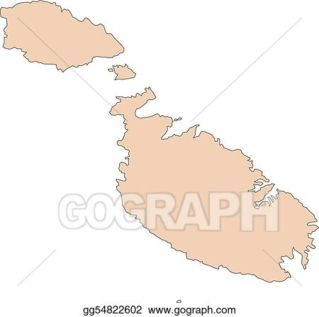 Vector Stock - Malta, island. Clipart Illustration ... on san marino, malta people, malta region map, malta points of interest, malta street map, malta weather, malta russia map, emma heming, malta beaches, malta portugal map, cape verde islands map, malta capital map, italy map, maltese map, st.julians malta map, paul in malta map, malta bus route map, malta popeye s, malta climate map, malaysia map, sliema malta map,