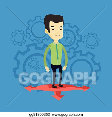 Eps Illustration Man Choosing Career Way Vector Illustration Vector Clipart Gg91800352 Gograph