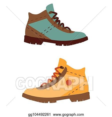 Vector Art Man Hiking Boots Clipart Drawing Gg104492261 Gograph