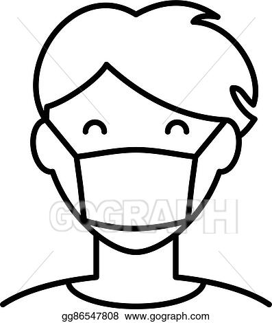 Vector Stock Man In Hygiene Face Mask Icon Stock Clip Art Gg86547808 Gograph