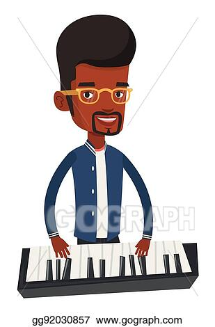 Jazz Pianist - Man Playing Piano Silhouette - Free Transparent PNG Clipart  Images Download