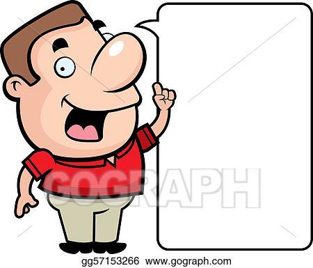 Vector Illustration Man Talking Stock Clip Art Gg57153266 Gograph