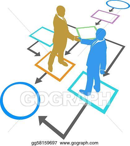 vector art management business people agreement flowchart process