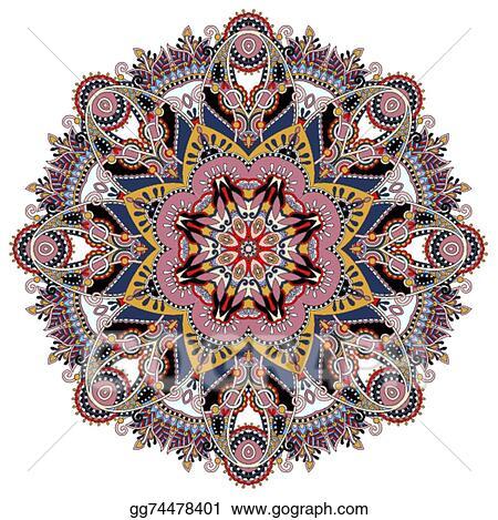 Vector stock mandala circle decorative spiritual indian symbol of mandala circle decorative spiritual indian symbol of lotus mightylinksfo