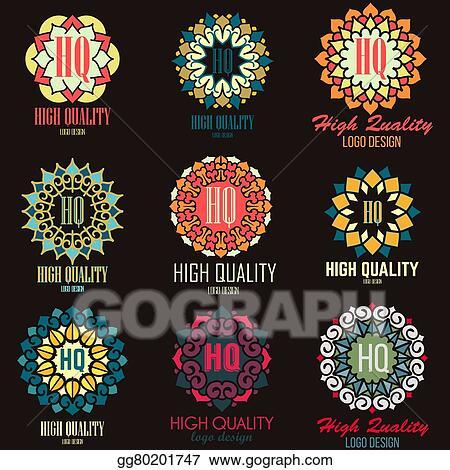 vector illustration mandalas collection round ornament pattern