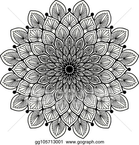 Vector Art - Mandalas for coloring book. decorative round ...