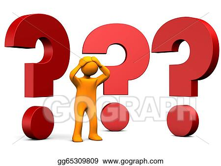 Stock Illustration - Manikin without answers  Clipart