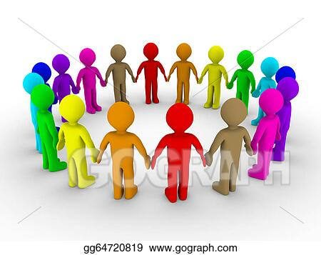 stock illustration many people form a circle clipart gg64720819