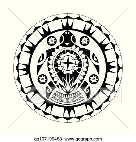 9d9c27ede Maori / Polynesian Turtle Tattoo Style Ornament - Ready for Print and used  for Stencyl as Custom Artwork