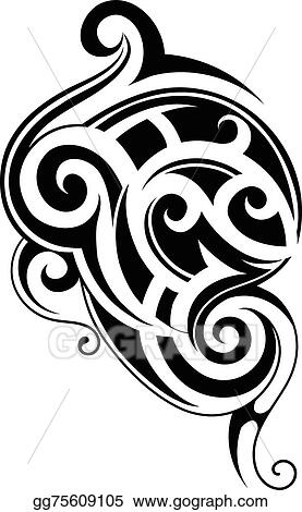 e551128abcfdf Vector Stock - Maori tattoo. Stock Clip Art gg75609105 - GoGraph