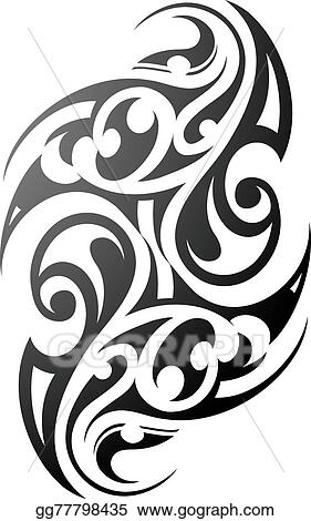 da9972caa7ed7 Vector Stock - Maori tattoo. Stock Clip Art gg77798435 - GoGraph