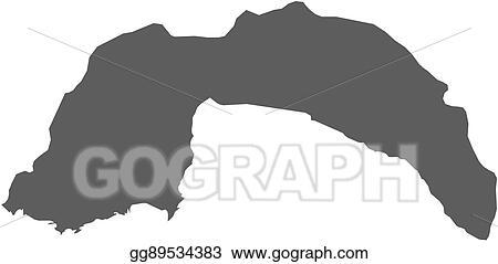 Vector Clipart - Map - antalya (turkey). Vector Illustration ...