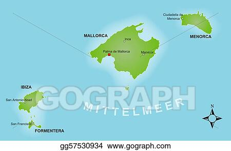 Stock Illustration - Map - balearics. Stock Art Illustrations ...