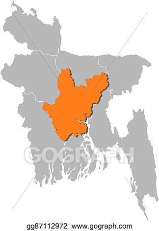 Clip Art Vector - Map - desh, dhaka. Stock EPS gg87112972 ... Dhaka World Map on