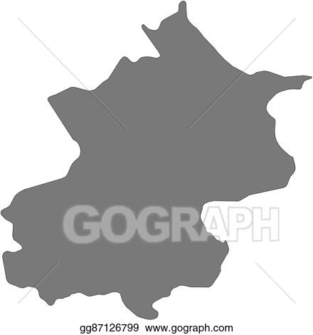 Vector Illustration Map Beijing China Eps Clipart Gg87126799