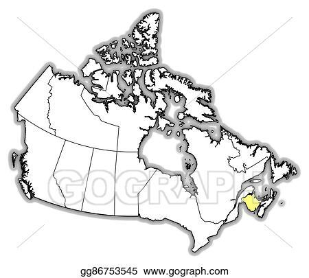 Drawing Canada Map Vector Art   Map   canada, new brunswick. Clipart Drawing