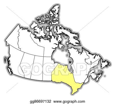 Map Of Canada Eps.Vector Art Map Canada Ontario Eps Clipart Gg86697132 Gograph