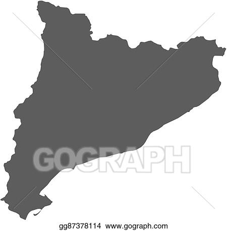 Clip Art Vector Map Catalonia Spain Stock Eps Gg87378114