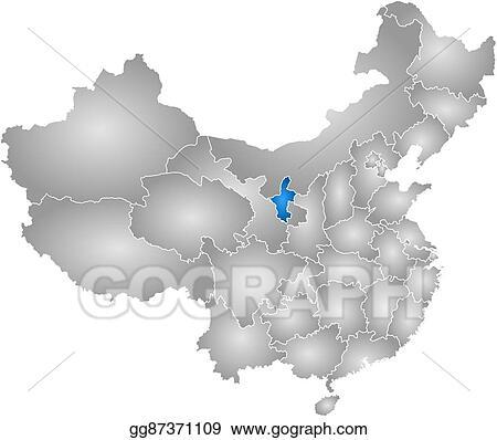 Ningxia China Map.Vector Stock Map China Ningxia Stock Clip Art Gg87371109 Gograph