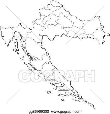 Vector Stock - Map - croatia. Stock Clip Art gg86969300 - GoGraph
