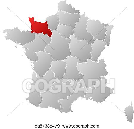 Vector clipart map france lower normandy vector illustration map france lower normandy gumiabroncs Gallery
