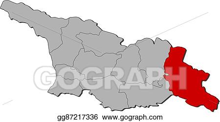 Map Of Kakheti Georgia.Clip Art Vector Map Georgia Kakheti Stock Eps Gg87217336 Gograph