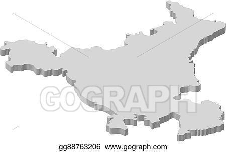 Haryana India Map.Vector Clipart Map Haryana India 3d Illustration Vector