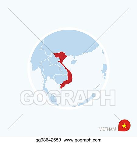 Vector Illustration - Map icon of vietnam. blue map of ... on beijing map asia, color map south america, color map australia, color us map, world clock asia, pyramids of asia, color europe map, north asia, color map united states, shape of asia, compass of asia, color map africa, world map asia, citytime zone map asia, educational maps of asia, coloring pages of animals in asia, color map egypt,