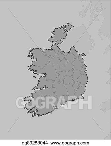 Map Of Ireland Vector.Clip Art Vector Map Ireland Stock Eps Gg89258044 Gograph