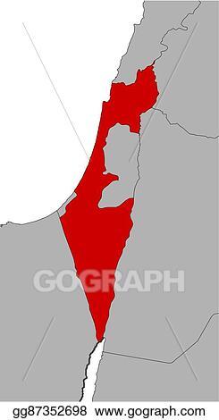 Vector Stock - Map - israel. Stock Clip Art gg87352698 - GoGraph
