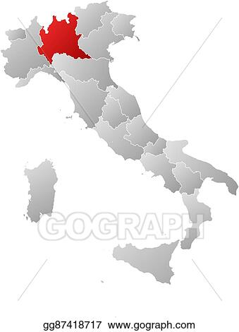 EPS Vector - Map - italy, lombardy. Stock Clipart Illustration ...