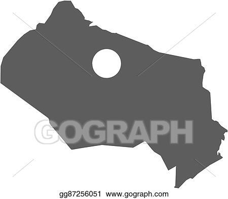 Vector Illustration - Map - kyzylorda (kazakhstan). EPS Clipart ...