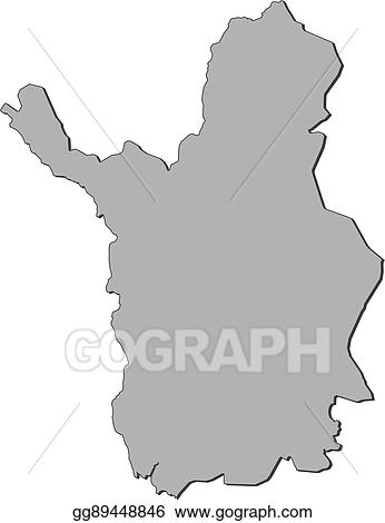 Vector Stock - Map - lapland (finland). Clipart Illustration ...