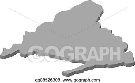 Vector Art - Map - madrid (spain) - 3d-illustration. EPS clipart ...