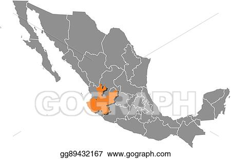 Jalisco Mexico Map on