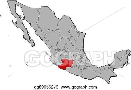 Vector Art - Map - mexico, michoacan. Clipart Drawing gg89056273 ...