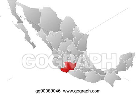Vector Art - Map - mexico, michoacan. Clipart Drawing ...