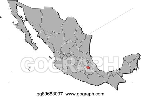 Eps Illustration Map Mexico Tlaxcala Vector Clipart Gg89653097