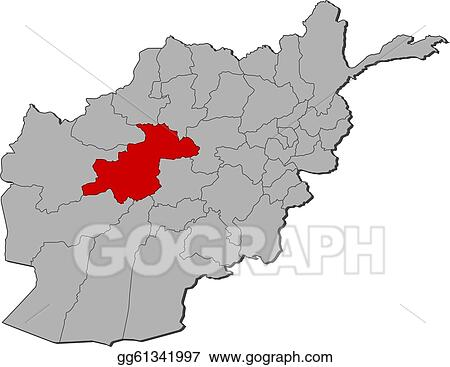 Vector Stock Map Of Afghanistan Ghor Highlighted Clipart