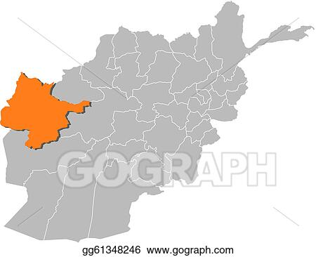 Vector Illustration - Map of afghanistan, herat highlighted. EPS ...