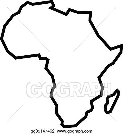 Vector Stock   Map of africa. Clipart Illustration gg85147462