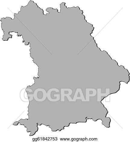 Vector Clipart Map Of Bavaria Germany Vector Illustration