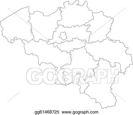 Belgien Karte Umriss.Eps Vector Map Of Belgium Stock Clipart Illustration Gg61468725
