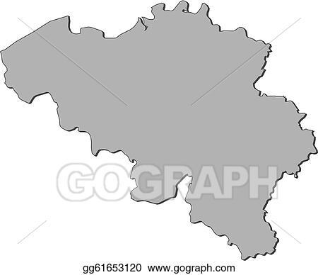 Belgien Karte Umriss.Eps Vector Map Of Belgium Stock Clipart Illustration Gg61653120