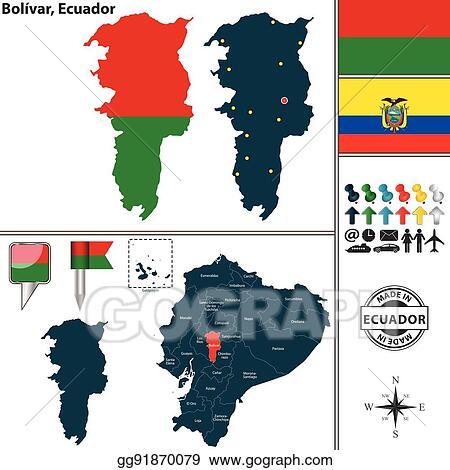 Eps vector map of bolivar ecuador stock clipart illustration map of bolivar ecuador publicscrutiny Choice Image