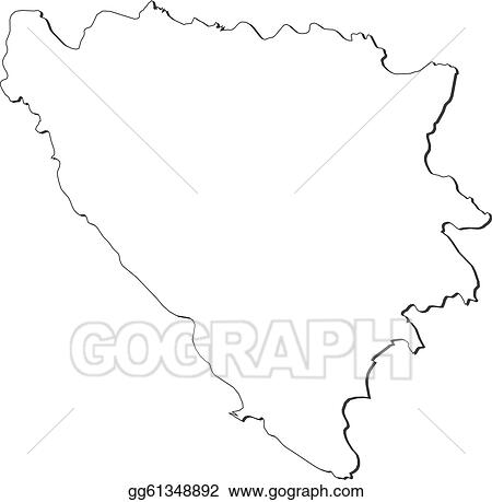 Vector Illustration - Map of bosnia and herzegovina. EPS ...